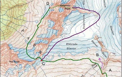 Eldorado Peak, including the...