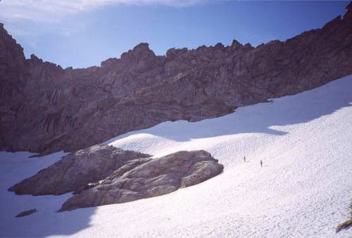 West Arete approach:...