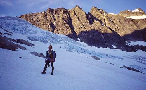 Approaching the West Arete ,...
