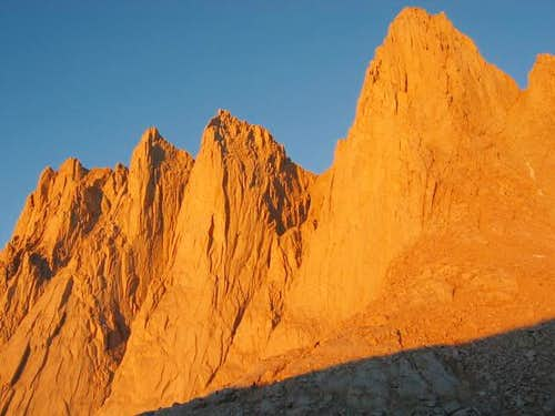 Alpenglow on Mt. Whitney -...