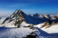Portjengrat (11995 ft / 3656 m) as seen from the SE-ridge of Weissmies (13198 ft / 4023 m).