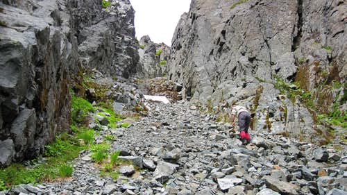 Climbing the Summit Gully