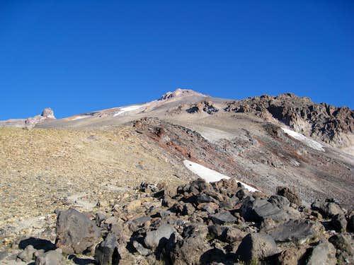 Trail beyond bivouac site