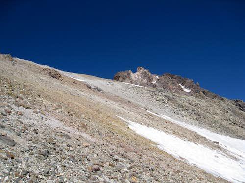 Class 2 climbing at edge of Wintun Glacier