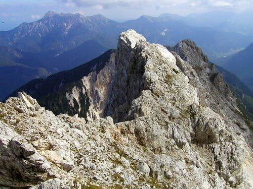 View from the NE ridge of...
