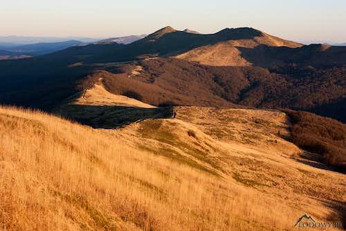Mt. Polonina Wetlinska at sunset