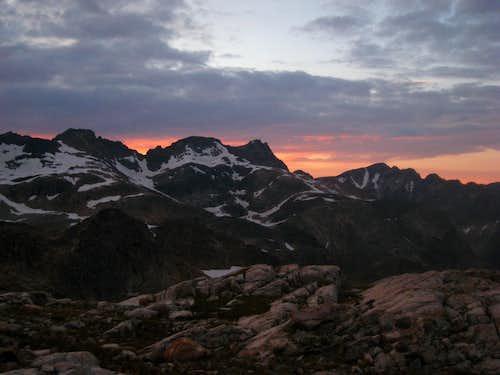 Sunset on the Western Beartooths