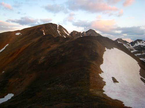Hiking up Iceberg Peak