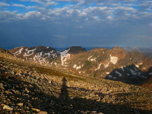 View near the summit of Iceberg Peak