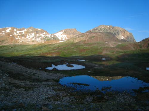 Small tarns above Goose Lake