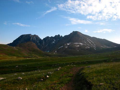 Sawtooth Mountain along Goose Lake Trail