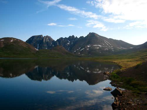 Sawtooth Mountain and Goose Lake