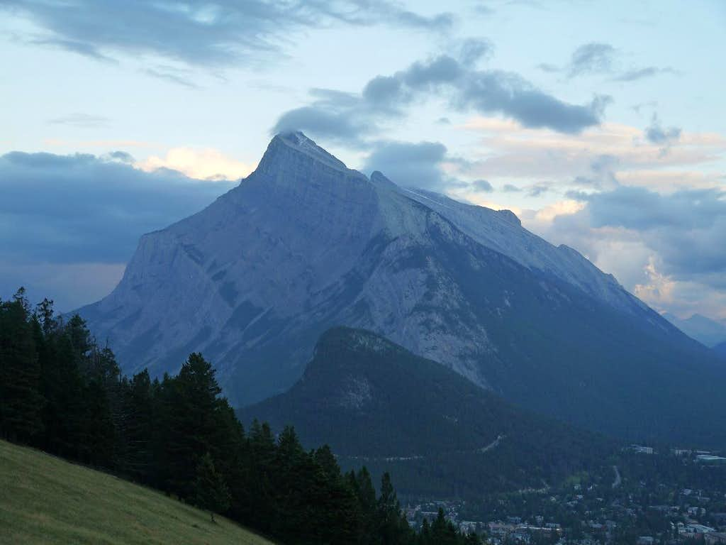 Mount Rundle During Evening