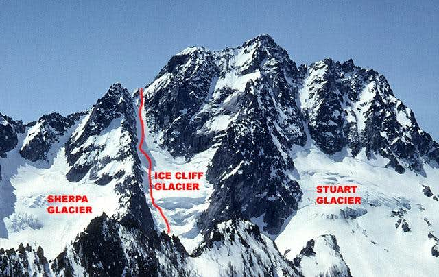 Ice Cliff Glacier Route  Mount Stuart