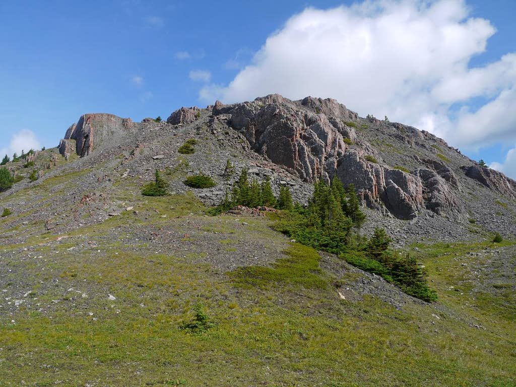 Lower South Ridge of Mount Cory