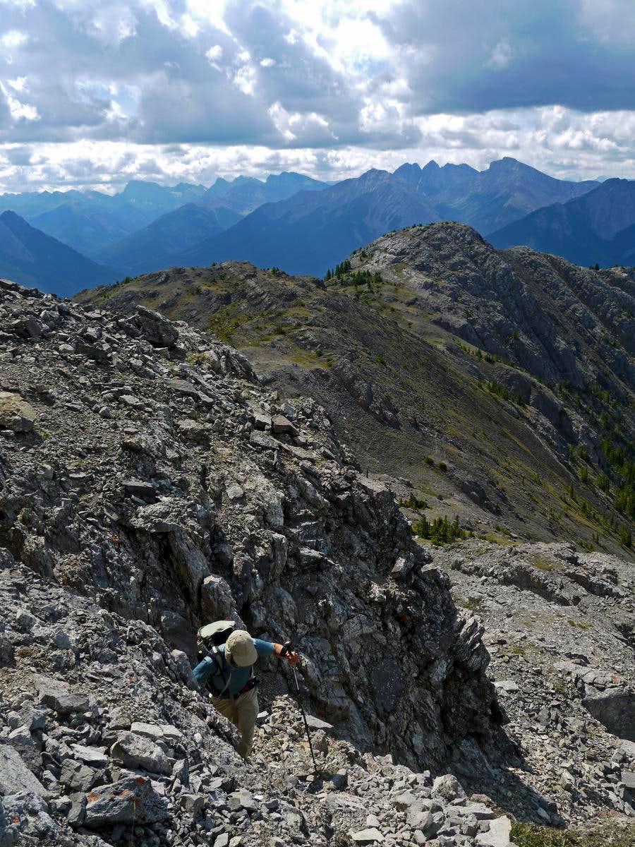 Hiking up the South Ridge