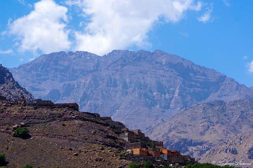 Toubkal Massif as seen from Imlil
