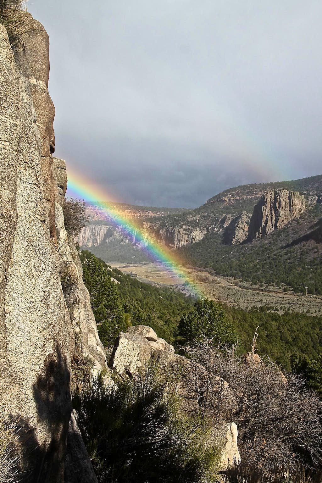Rainbow from Sunday Wall