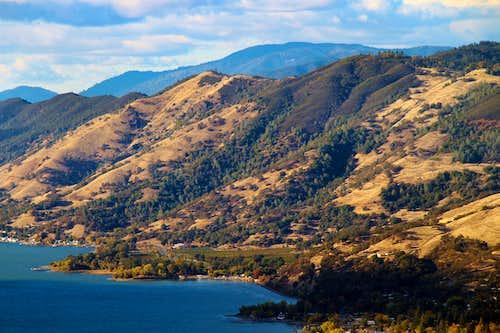 Hogback Ridge above Clear Lake