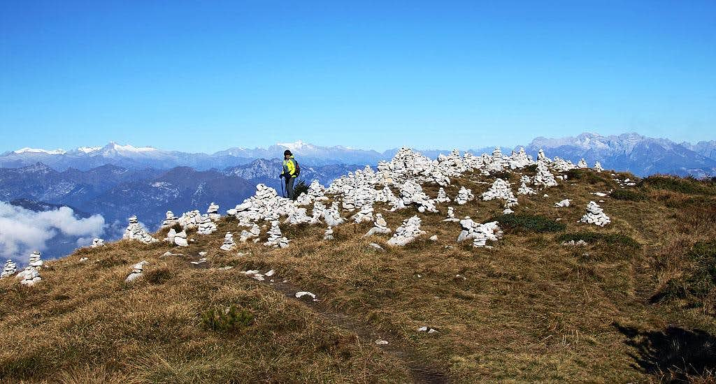 On the ridge of Cima delle Pozzette