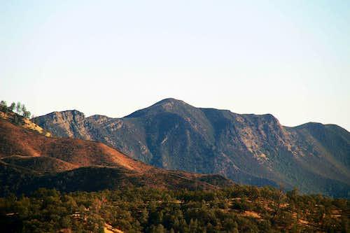Fiske Peak from the northwest, Cache Creek Wilderness