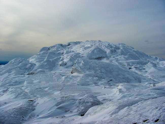 Rime ice on the summit 2/24