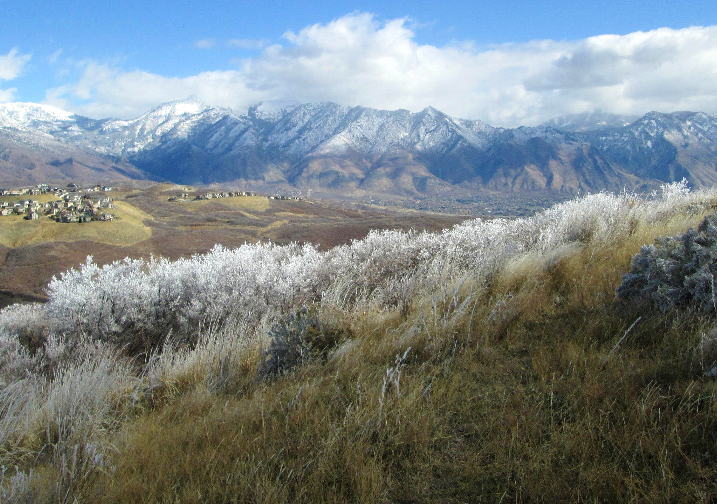 Frozen scenery above Lehi Utah