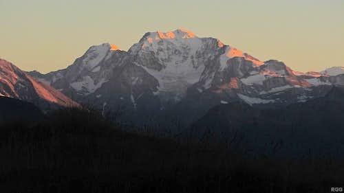 Alpenglow on Weissmies (4017m) and Fletschhorn (3993m)