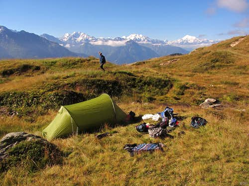 Our camp site on Bettmeralp