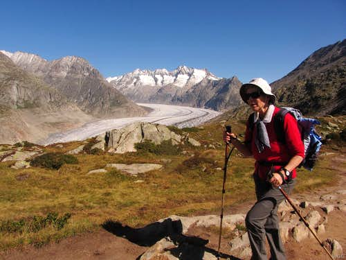 The Grand Aletsch Glacier seen from Biel
