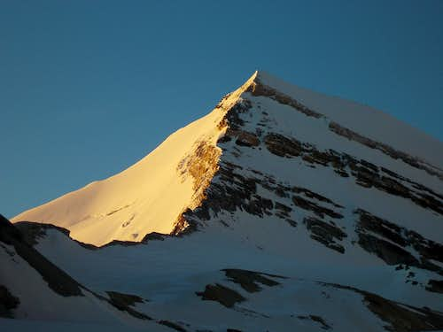Alpenglow on the north face