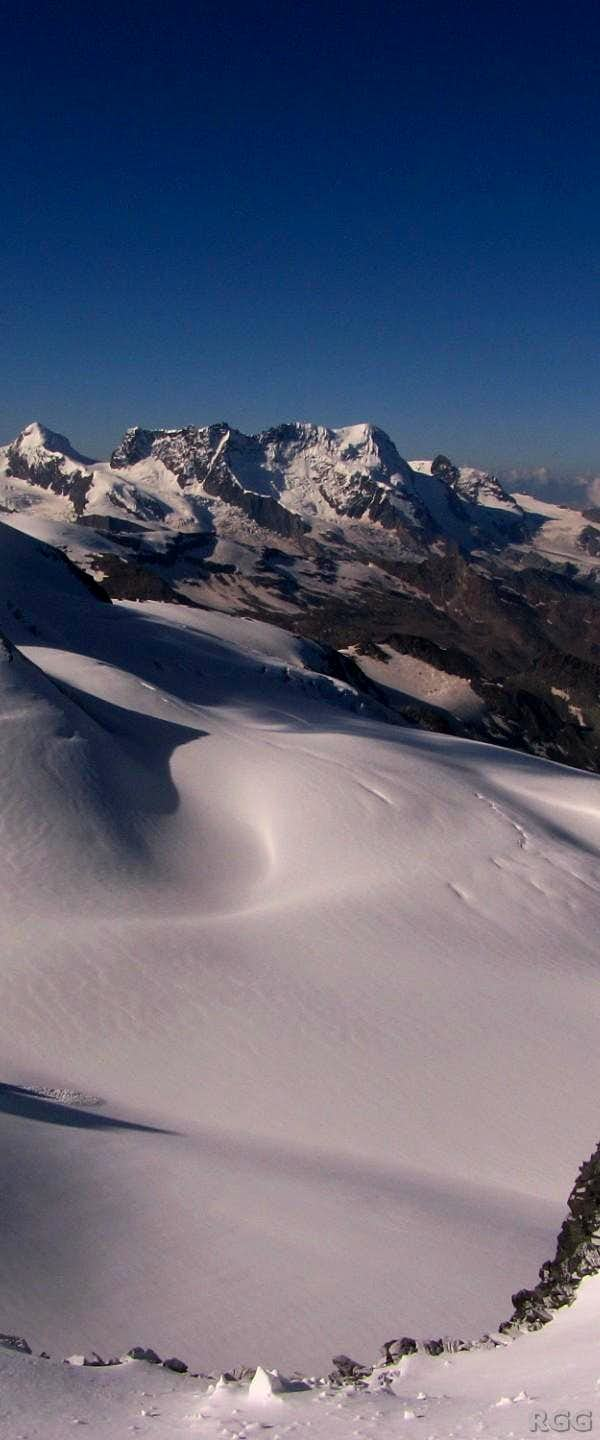 Distant view of Breithorn (4164m)
