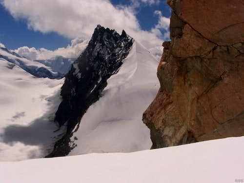 Rimpfishhorn from high on the Allalinhorn Hohlaubgrat