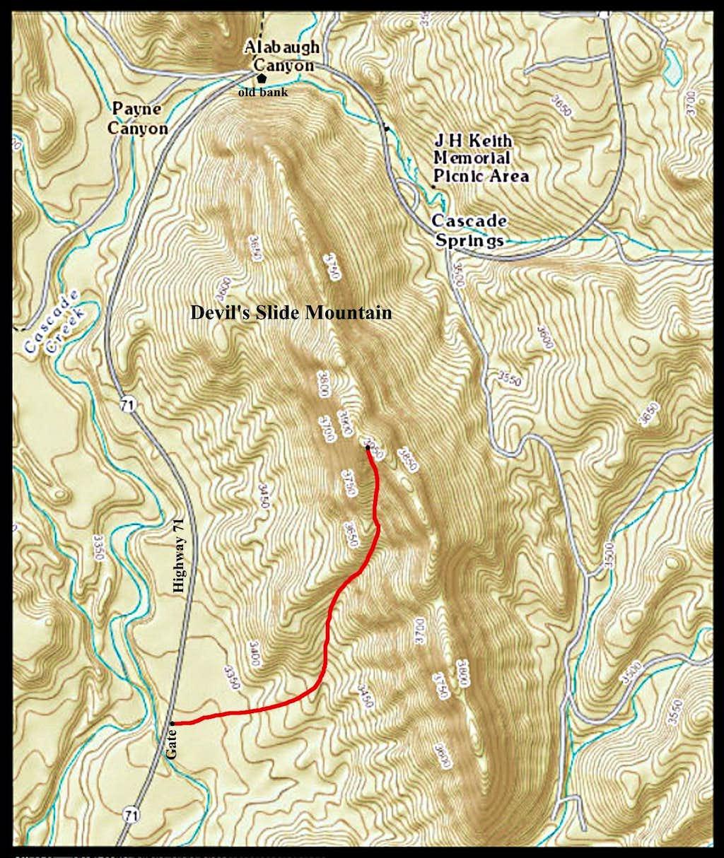 Devil's Slide Mountain Route Map