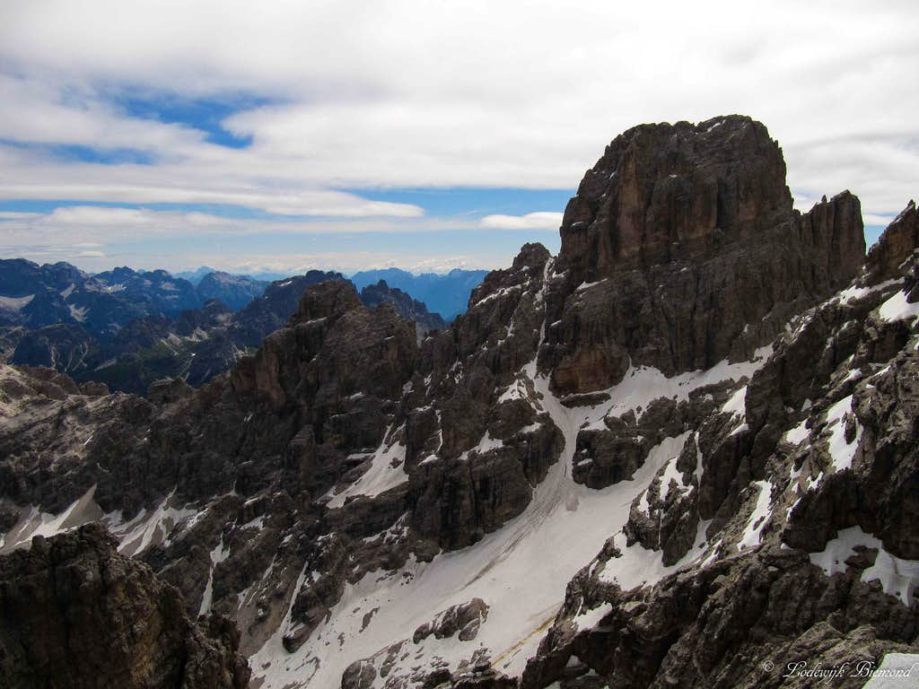 Cristallo (10567 ft / 3221 m) as seen from Mezzo