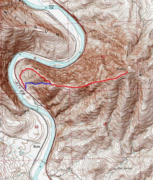 Map of the Routes up Baldy