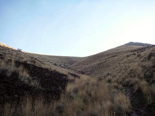 Heading up the direct trail