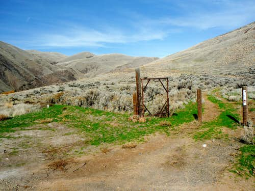 The trailhead gate