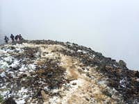 Well this just got interesting! Quandary Peak - August 7, 2014