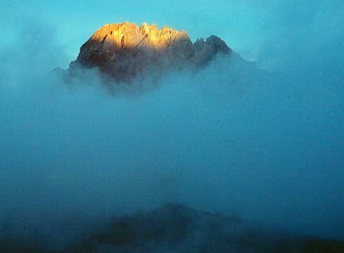 Mawenzi Peak at sunset from...