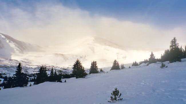 Timberline view, looking west...