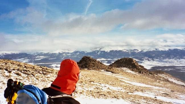 Emilio descending Mount...