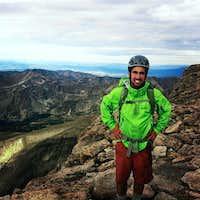 On the summit of Long's Peak (Colorado)
