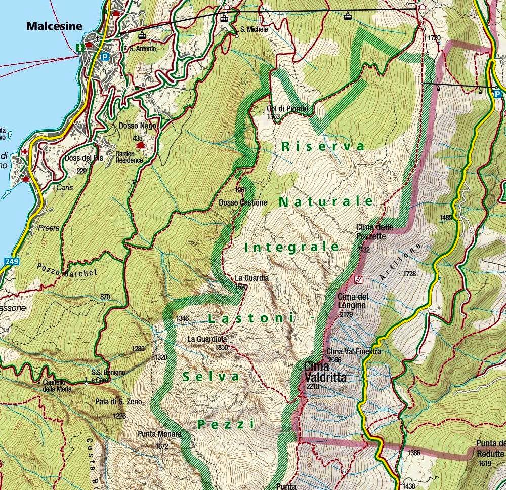 Cima Valdritta map 1