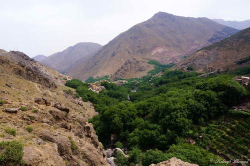 View from the Trail back to Imlil