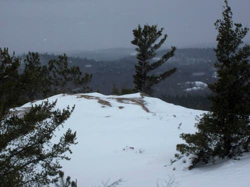 Wintry Summit of Hogback Mountain