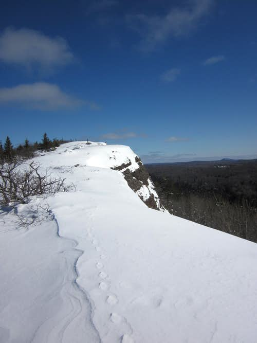 Summit of Mt. Lookout in Winter