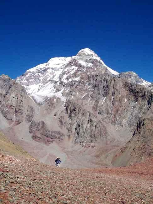 A view of Aconcagua from the...