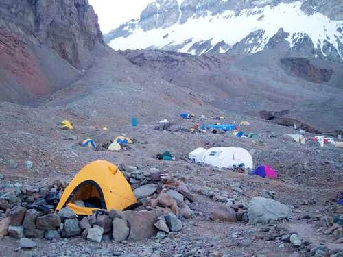 Base camp at Plaza Argentina....