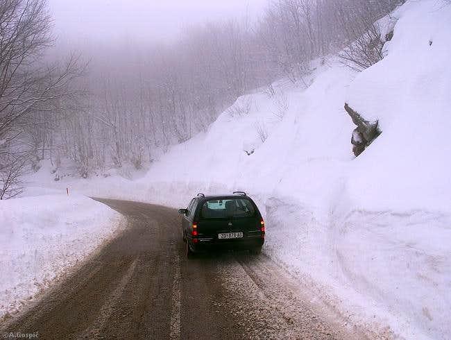 Ostarije pass (927m) is most...